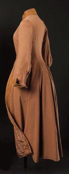 Riding coat (redingote), c. 1880.