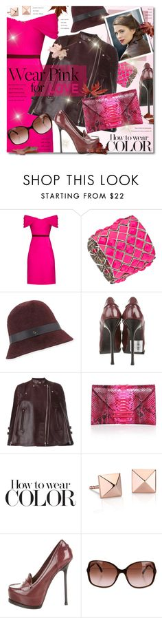 """I Wear Pink For My Mom"" by petri5 ❤ liked on Polyvore featuring Emilio De La Morena, Blu Bijoux, Inverni, Yves Saint Laurent, Givenchy, VBH, Blue Nile and Chanel"