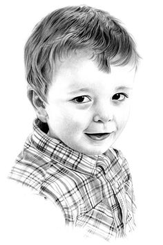 Hand-drawn pencil portrait drawings of boys from photographs. Upload a photo online to order a pencil portrait from a photograph. MCB Pencil Portraits   mcbportraits.uk