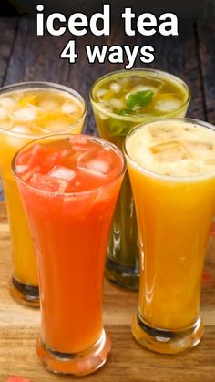 Summer Drink Recipes, Iced Tea Recipes, Coffee Recipes, Fruit Tea Recipes, Milk Tea Recipes, Homemade Iced Tea, Wie Macht Man, Vegetarian Snacks, Smoothie Recipes