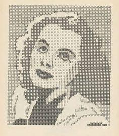 The Lost Ancestors of ASCII Art - actress Hedy Lamarr portrait made on a type writer  | First pinned to Celebrity Art board here... http://www.pinterest.com/fairbanksgrafix/celebrity-art/ #Drawing #Art #CelebrityArt