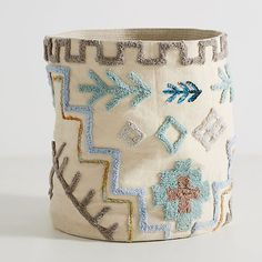 Chic boxes, baskets and bins that will keep your space organized Textiles, Needlecrafts, Punch Needle, Embroidery Art, Hobbies And Crafts, Basket Weaving, Crochet Stitches, Diy Design, Crochet Projects