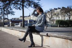 Blogueuse mode - Veste prince de galles et cuissardes