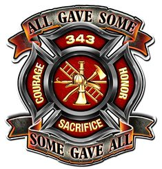 United States Firefighter, Some Gave All, Never Forget Patriotic Art on metal sign, vintage style garage art wall decor Hard Hat Stickers, Bumper Stickers, Fire Dept, Fire Department, Firefighter Decals, Volunteer Firefighter, Firefighter Pictures, Firefighter Quotes, Firefighter Tattoos