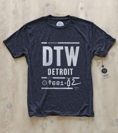 Detroit tee by Pilot & Captain  www.pilotandcaptain.com