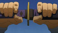 Gurren Lagann _-_ Kamina's strangely-long sword gif