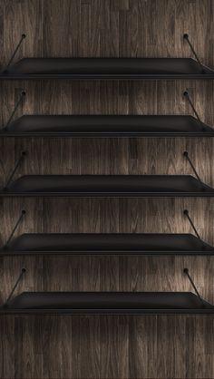 Dark Wood iPhone5壁紙