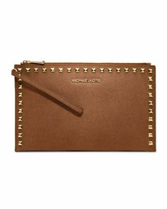 MICHAEL Michael Kors Large Selma Studded Saffiano Clutch.