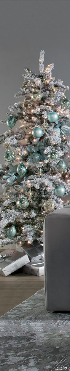 Z Gallerie Holiday Inspiration #ZGallerie #holidaydecor #ChristmasDecor #modernspaces Flocked Christmas Trees, Magical Christmas, Blue Christmas, Holidays Please, Affordable Modern Furniture, Kind Person, Home Decor Store, Flocking, Decoration
