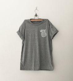 Pineapple Pocket Tee Shirt Funny TShirts Instagram by CozyGal