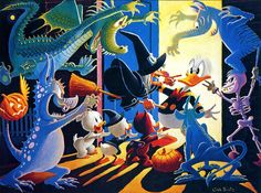 Donald Duck versus the Trick or Treaters