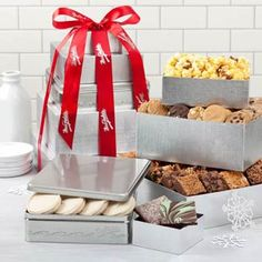 Mrs. Fields® Executive Gift Tower. See more at www.pro-gift-baskets.com!