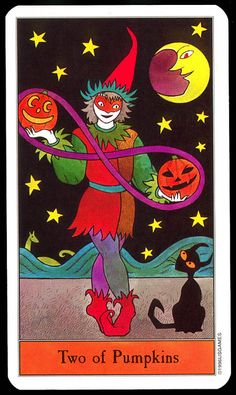 Halloween Tarot: Two of Pumpkins | Flickr - Photo Sharing!