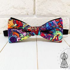 Bow Tie Psychedelic Bowtie bright Creative bow tie от BowTieYAKUT