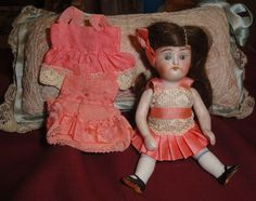 German All Bisque Doll given to Child in Hospital, 1926