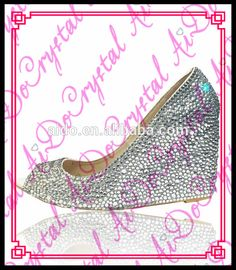 Aidocrystal Sexy ladies crystal wedge heel fish mouth white crystal party shoes http://aido.en.alibaba.com/