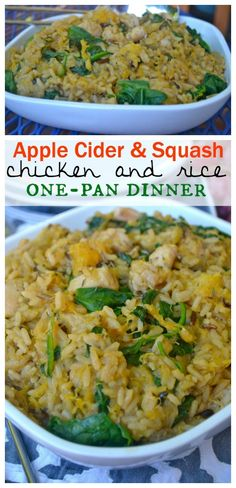 #ad #BensBeginners #unclebenspromo. @unclebensrice    Apple Cider & Squash Chicken and Rice One-Pan Dinner - Make The Best of Everything