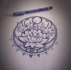 Pretty lotus flower tattoo idea ❤️ by leonor