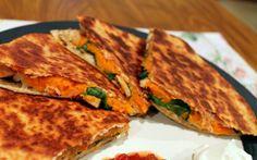 Chicken, Sweet Potato, & Spinach Quesadillas