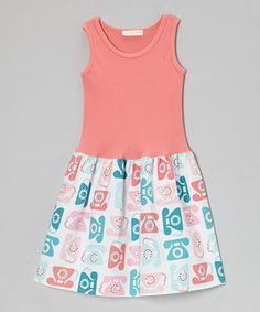 Loving this Alejandra Kearl Designs Salmon Retro Phone Dress - Infant & Toddler on #zulily! #zulilyfinds