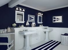 navy white   Cottage Company - Harbor Springs