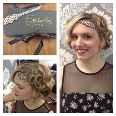 The new Angelic beaded headband by Emily Kai Company. Genuine stones, sewn into place with buttered leather backing. So comfortable that you won't even know it's on, yet so beautiful that you will because of all the compliments you'll get wearing it!