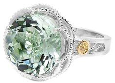 Tacori 18K925 Round Green Prasiolite Ring style SR12312