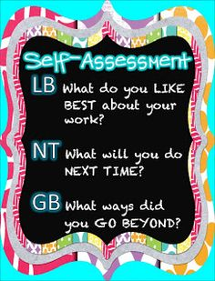 Student Self-Assessment Anchored In 3rd Grade