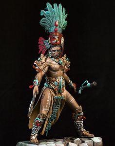 Maya Warrior - Pegaso Models - El Greco Miniatures – El Greco Miniatures Ltd. Inka Tattoo, Aztec Statues, Aztecas Art, Aztec Warrior, Warrior 1, Warrior Spirit, Aztec Culture, Mesoamerican, Chicano Art