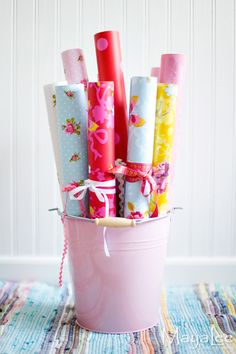 Store wrapping paper in a stylish way!