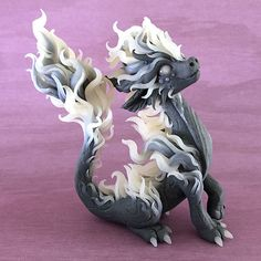 Smoke Dragon Sculpture by Dragons and Beasties