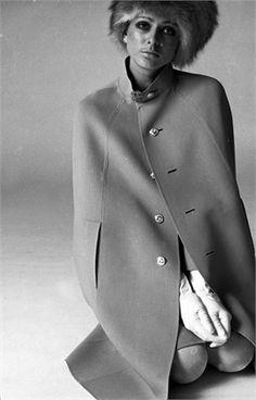 Photo by Tony Kent 1968, Cape Mila Schon, Vogue Italia, July/August 1968