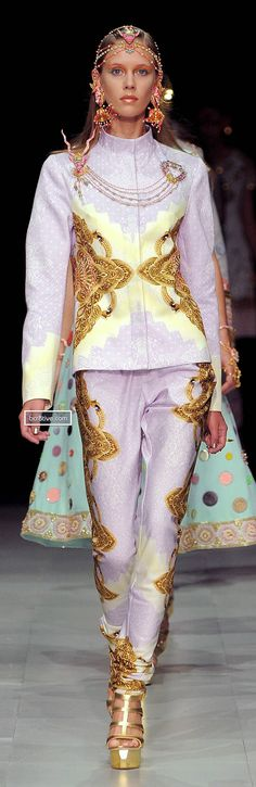 Manish Arora Spring Summer 2013. ...not really wearable at all, but I like the colorsand respect the originality.