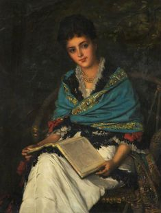 Portrait of a Lady - William Oliver (1823–1901)