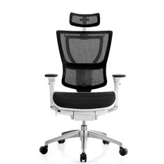 SPACE Air Grid Back Executive Leather Chair with Adjustable Headrest
