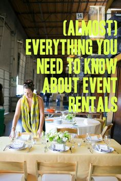 (Almost) Everything You Need To Know About Party Rentals - A Practical Wedding A Practical Wedding: We're Your Wedding Planner. Wedding Ideas for Brides, Bridesmaids, Grooms, and Event Planning Tips, Event Planning Business, Party Planning, Event Rental Business, Event Ideas, Reception Ideas, Business Ideas, Event Space Rental, Reception Food