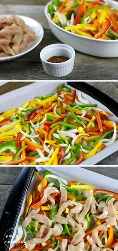 Chicken Fajita Bake | A restaurant-style chicken fajita recipe without the fuss and virtually no clean up! | Paleo  | Whole 30 | Gluten-free | http://simplynourishedrecipes.com/one-dish-chicken-fajita-bake/