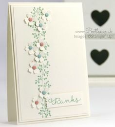 Stampin' Up! Demonstrator Pootles - Bordering Blooms in Blushing Bride, Pool Party and Mint Macaron