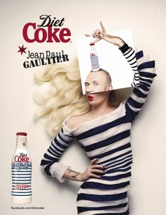 Coca Cola Limited Edition bottle collection by Jean Paul Gaultier Ad Campaign