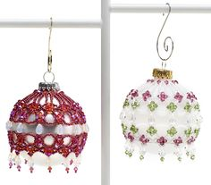 """""""Sugarplum ornament cover"""" by Cathy Lampole april 2012 bead and button pattern"""