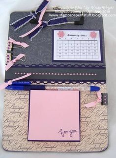 ** Altered Clipboard With Calendar & Sticky Notes @splitcoaststampers