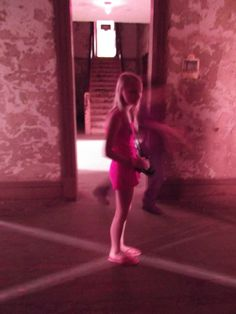This image below was taken at Mansfield Reformatory (Ohio State Reformatory) in the warden's home/administrative area near the Chapel. Notice the moving spirit behind the child which no one saw when the pic was taken.