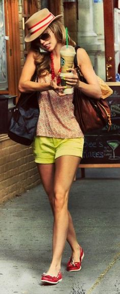Summer + style or ... prints + Starbucks = perfection