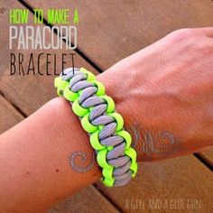 how to make paracord bracelets. we did these at camp, now i'm obsessed with making them!