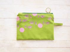 Zipper pouch cosmetic bag pencils case screenprinted by poppyshome