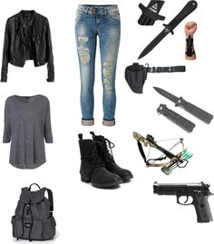 """The Walking Dead"" by cecemmcdowell ❤ liked on Polyvore"