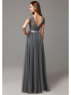 Buy wholesale retro bridesmaid dresses,rose bridesmaid dresses along with short bridesmaid dresses uk on DHgate.com and the particular good one-glamorous grey a-line lace tulle bridesmaid gowns 2016 jewel floor-length maid of honor dress ribbons wedding party dress bd10226 is recommended by helen_fontaine at a discount.