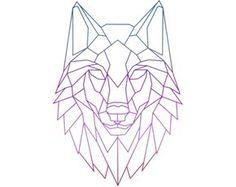 Картинки по запросу geometric wolf