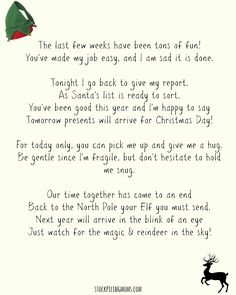 Elf On A Shelf Goodbye Letter (Free Printable)