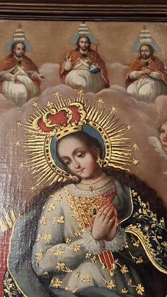 Our Lady, Queen of Heaven with The Holy Trinity